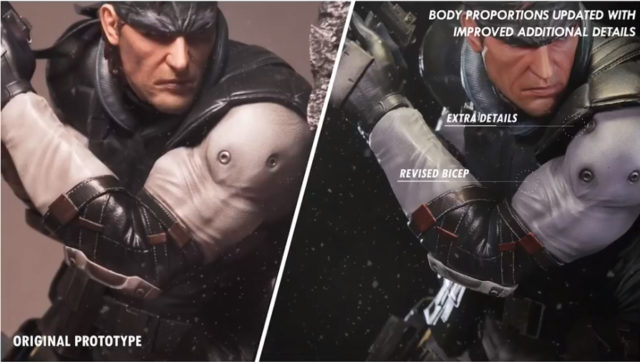 Revised Body Proportions for First 4 Figures Solid Snake Statue
