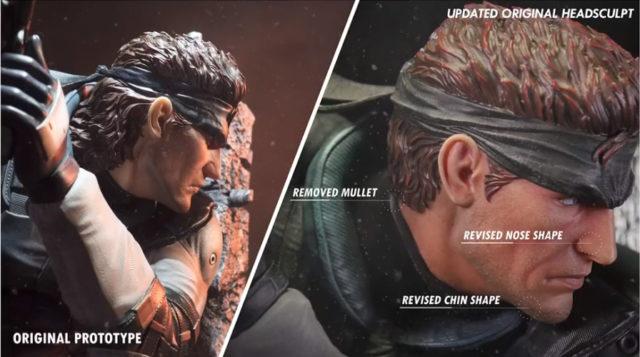 Updated Original Head Sculpt on Solid Snake Statue