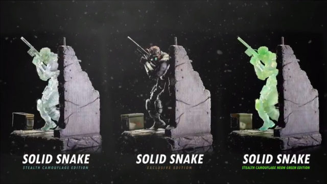 Updated Solid Snake F4F Statues
