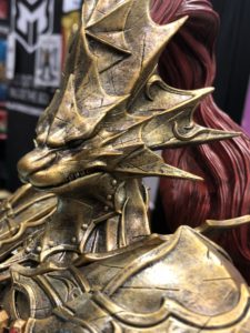 Close-Up of F4F Ornstein Statue Dark Souls