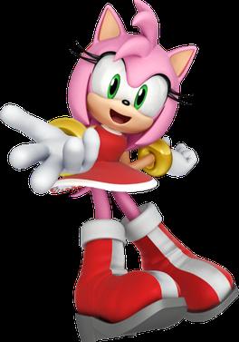 Modern Amy Rose the Hedgehog Artwork