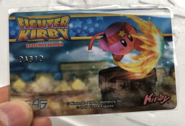 First 4 Figures Fighter Kirby EX Authenticity Card