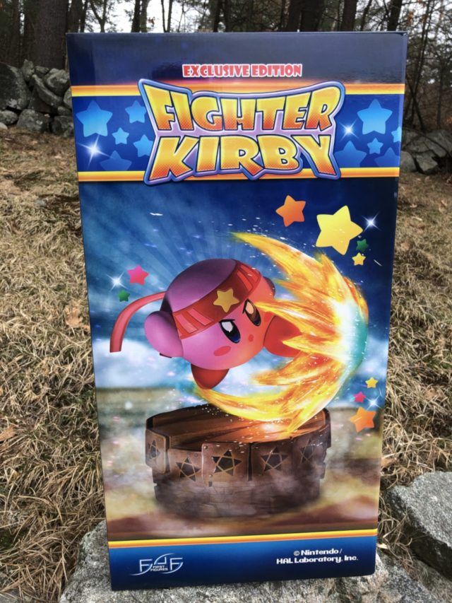 Front of Exclusive Fighter Kirby Statue Art Box